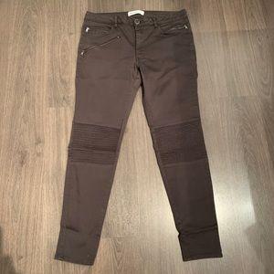 Zara Mid-rise Skinny Moto Jeans in dark grey